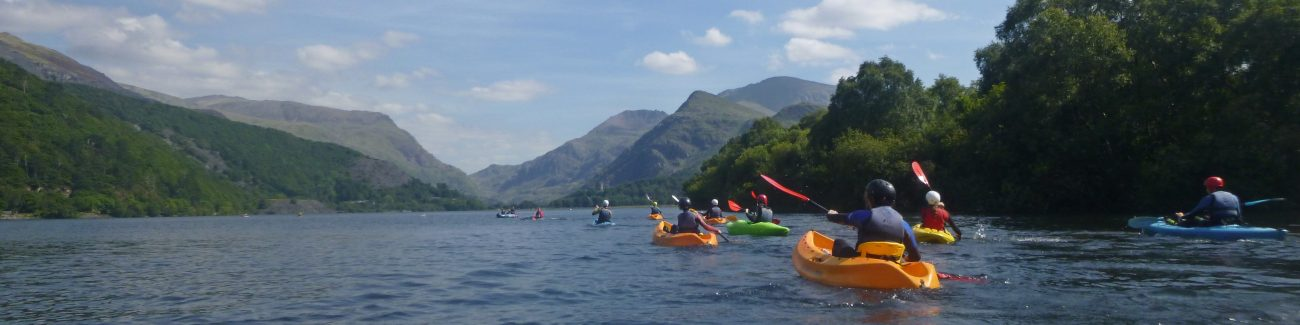 kayaking school outdoor activity, Snowdonia
