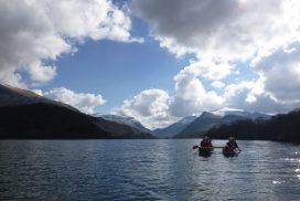 canoeing lake padarn wales00024