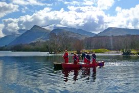 canoeing lake padarn wales00052s
