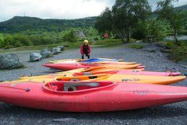 kayak lake Llyn padarn Snowdonia00020
