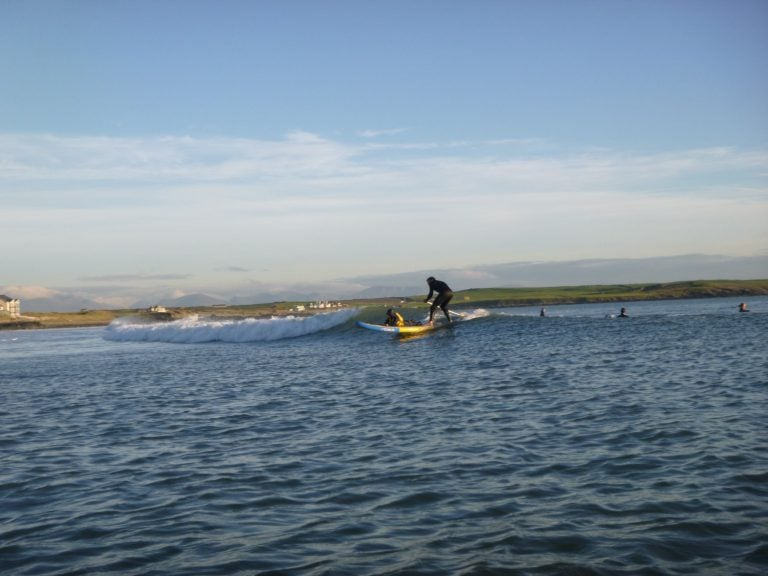 outdoor paddle board surfing North Wales