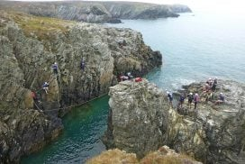 best zip line coasteering activity Gwynedd