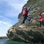 coasteering cliff jump activity in Gwynedd uk