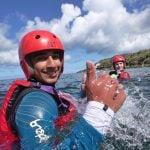 coasteering sea cliffs activity in Gwynedd uk