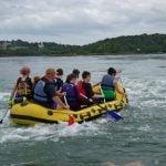 menai straits canoe activity in Gwynedd uk