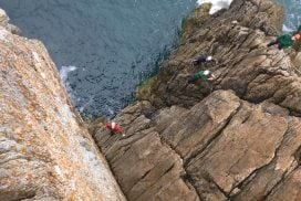 outdoor rock climbing activity for kids north wales