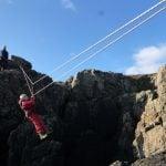 zip line coasteering Anglesey activity Gwynedd uk