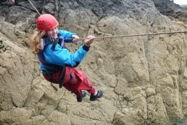 zip line coasteering activity Snowdonia