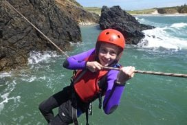 zip line coasteering activity wales