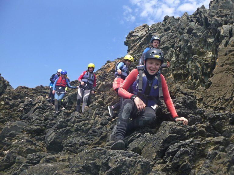 Rock Scrambling north wales