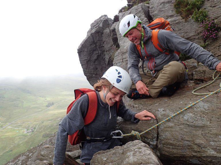 Scrambling Snowdonia North Wales