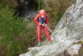 abseil cliff outdoors Anglesey