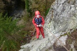 abseil cliff outdoors Midlands
