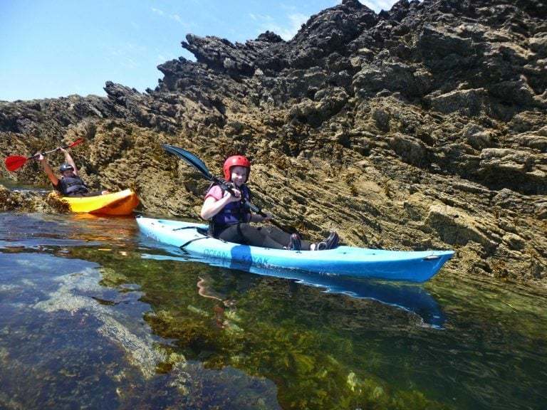best sea kayaking school trips wales