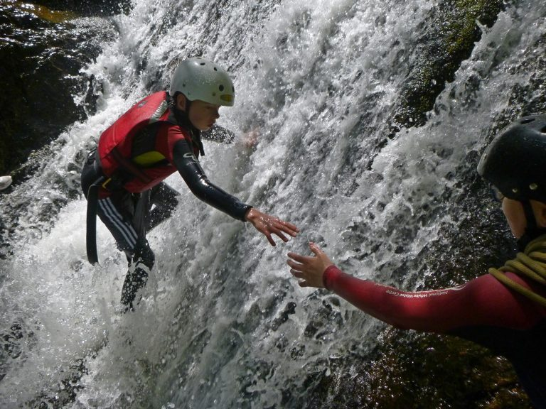 gorge scrambling in north wales