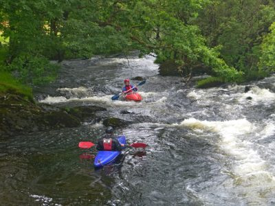 learning white water outdoor