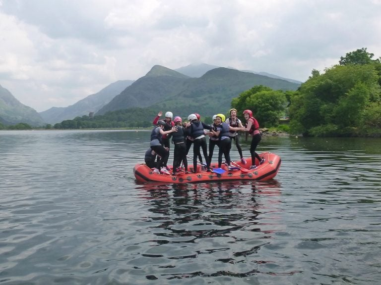 rafting residentail trips in wales