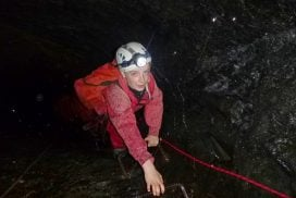underground caving mine Gwynedd