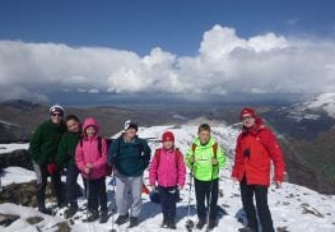 Winter mountain walking North Wales