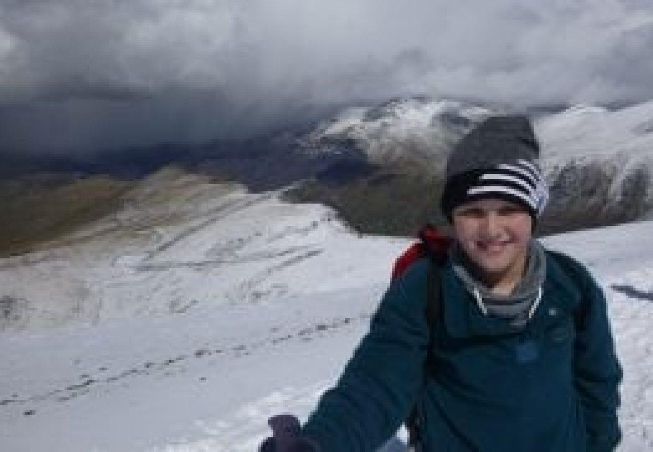 Winter mountain walking Wales