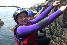 best Coasteering cliff activity in north wales arete