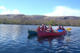 canoeing-lake-padarn-wales uk