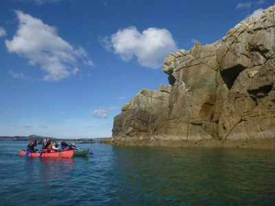 canoeing sea Anglesey wales