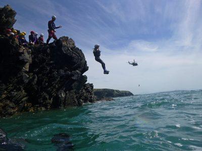 coasteering cliff jump Gwynedd uk