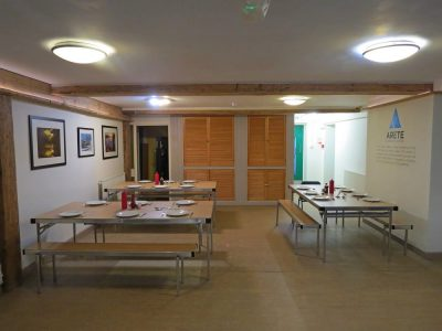 Main Hall for Group Accommodation with Large Dining Room Space