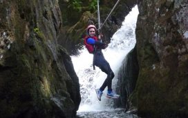 gorge scrambling activity snowdonia