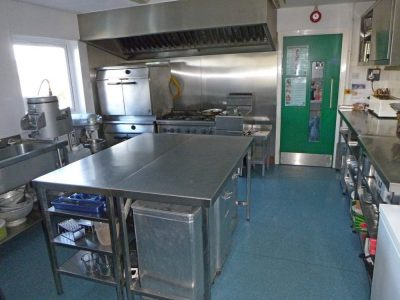 Main centre kitchen for catered accommodation or self catered groups