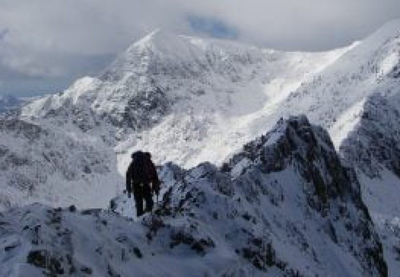 outdoor Winter mountain walking Anglesey