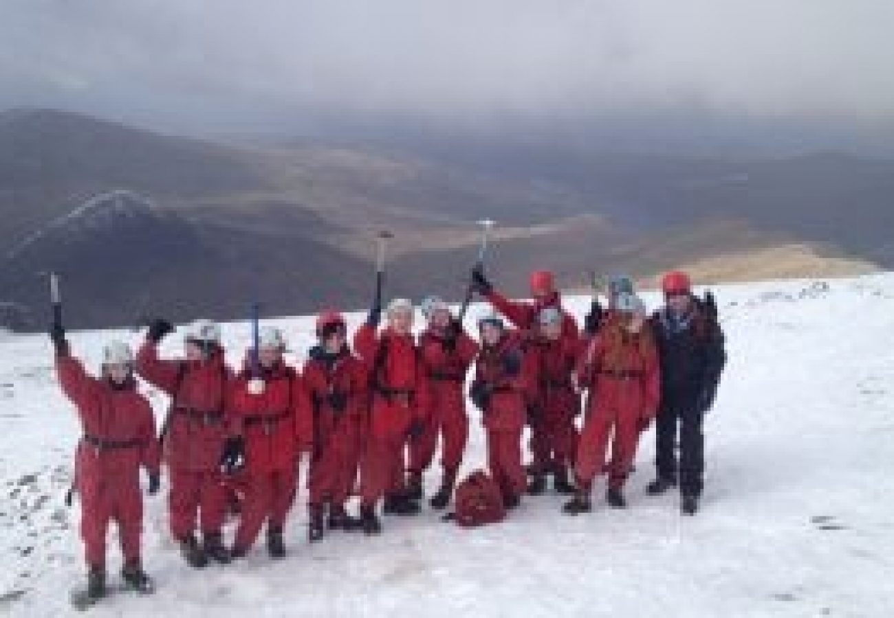 outdoor adventure Winter mountain walking Midlands
