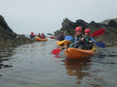sea-kayaking activity for kids Gwynedd
