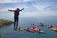 sea swimming outdoor activity in Gwynedd uk
