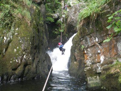 top canyoning activity in Gwynedd uk