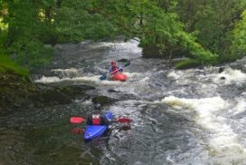 white water kayaking North wales