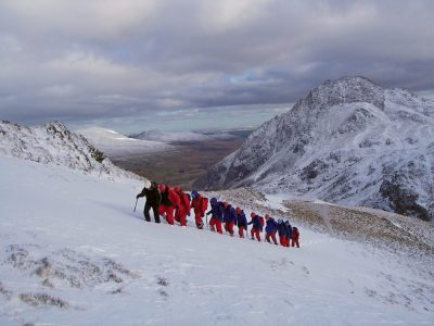 Outdoor residential winter mountaineering in Snowdonia
